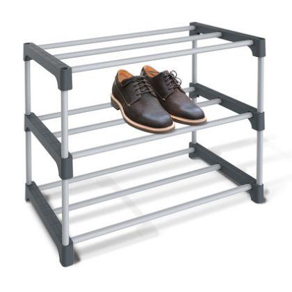 Полка для обуви, серый, 59,5 x 31 x 48,5 см