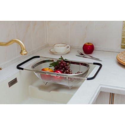 Сушилка для фруктов на раковину раздвижная, 34 х 26 х 11 см