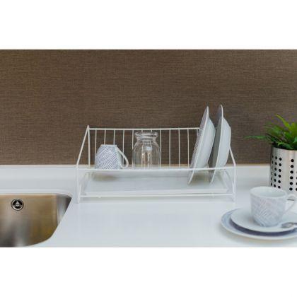 Сушилка для тарелок настольная наклонная, белая, 24 x 40 x 16 см
