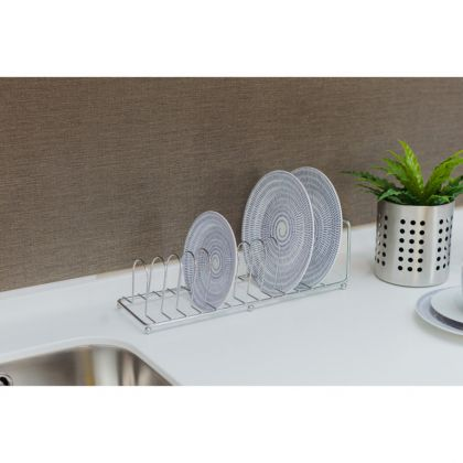 Сушилка для тарелок на 13 предметов, хром, 11 x 11 x 35 см