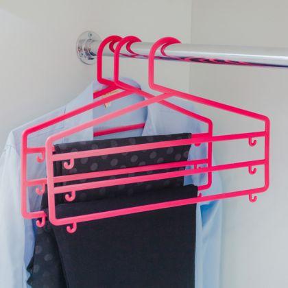 Вешалка для брюк и юбок трехуровневая, 35 x 0,5 x 25 см