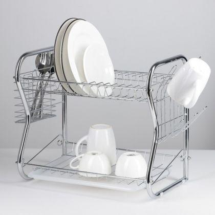 Сушилка для посуды «Optima», В-образная, 40 x 23,5 x 34 см