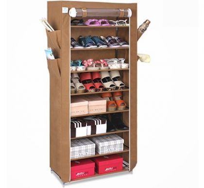 Тканевый шкаф для обуви и аксессуаров Элис, коричневый