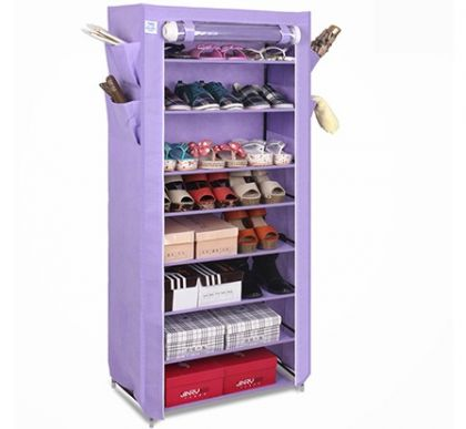 Тканевый шкаф для обуви и аксессуаров Элис, фиолетовый