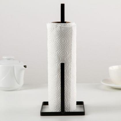 Подставка под бумажные полотенца «Loft», черный, 11 x 11 x 27 см