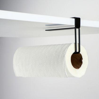 Подставка под бумажные полотенца подвесная «Loft», черный, 20,6 x 2 x 10,1 см