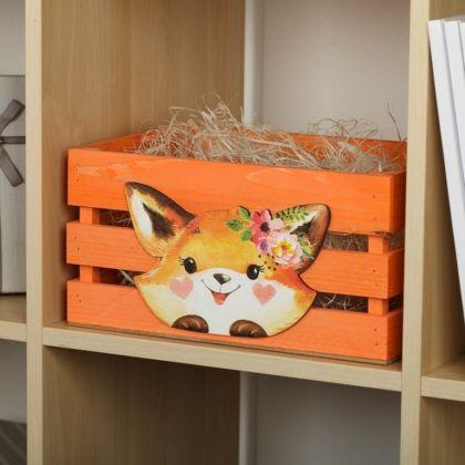 Ящик для хранения «Fox», оранжевый, 30 х 20 х 15 см