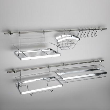 Рейлинговая система для кухни, 16 предметов
