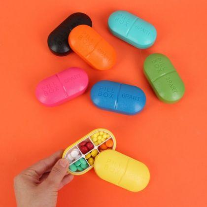 Органайзер для таблеток капсула на 6 приемов, 5,5 х 10 х 3 см
