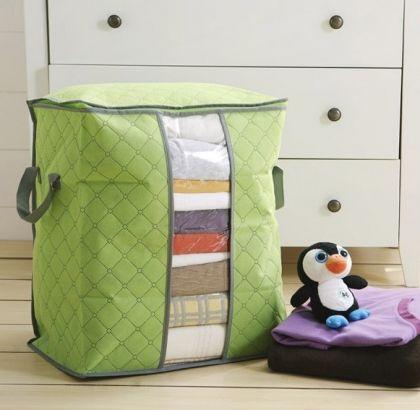 Чехол для постельного белья и подушек, зеленый, 44 х 30 х 48 см