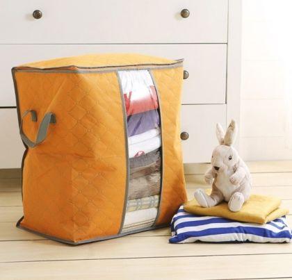 Чехол для постельного белья и подушек, оранжевый, 44 х 30 х 48 см