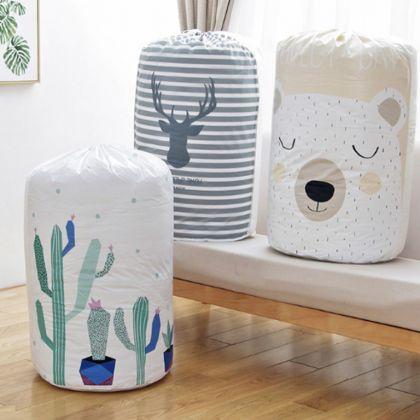 Мешок для хранения одежды «Cactus», белый, 43 x 43 x 82 см