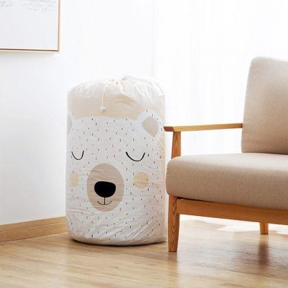 Мешок для хранения одежды «Bear», белый, 43 x 43 x 82 см