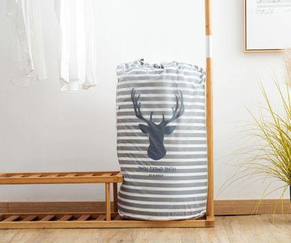Мешок для хранения одежды «Deer», серый, 43 x 43 x 82 см