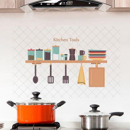 Наклейка жироотталкивающая для кухни «Kitchen Tools», белый, 90 x 60 см