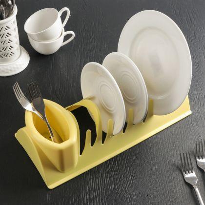 Сушилка для посуды «Katrin», желтый, 34 x 14 x 8 см
