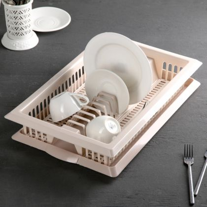 Сушилка для посуды «Dream», бежевый, 48 x 30 x 9 см