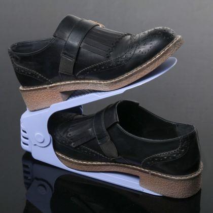 Подставка для обуви на одну пару, модель 1, сиреневый, 25 х 9 х 10-18 см