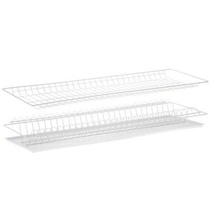 Комплект посудосушителей для шкафа, с поддоном, белый, 76 x 25,6 x 9 см