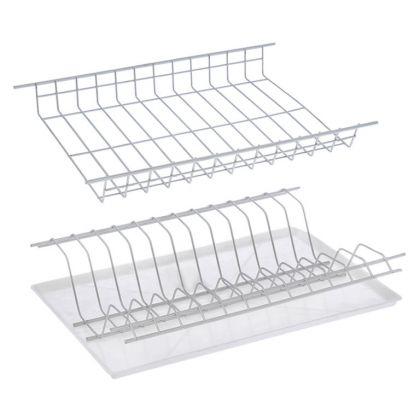 Комплект посудосушителей для шкафа, с поддоном, хром, 36,5 x 25,6 x 9 см