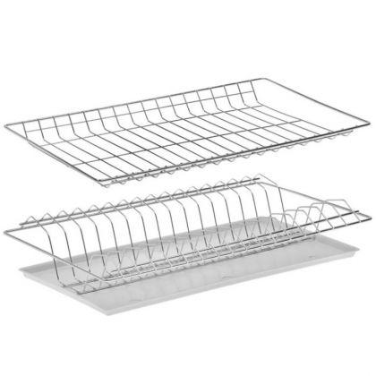 Комплект посудосушителей для шкафа, с поддоном, цинк, 46,5 x 25,6 x 9 см