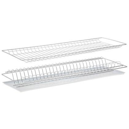 Комплект посудосушителей для шкафа, с поддоном, цинк, 76 x 25,6 x 9 см