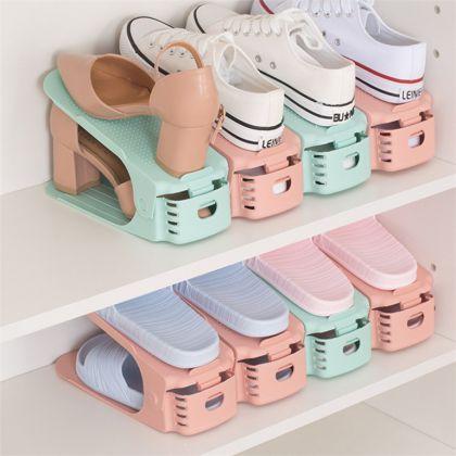 Подставка для обуви на одну пару модель 1, бежевый, 24 х 9 х 10-18 см