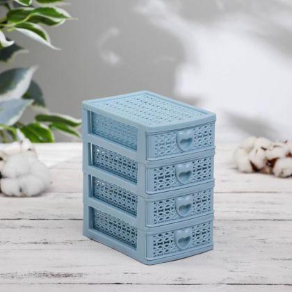 Мини-комод для мелочей «Lovely», 4 секции, 9 x 12,5 x 15 см