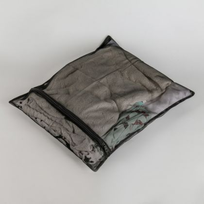 Мешок для стирки, мелкая сетка, черный, 50 x 40 см