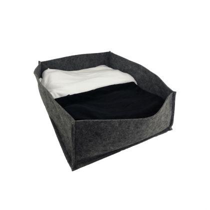 Коробка для хранения, фетр, серый, 38 х 30 х 13 см