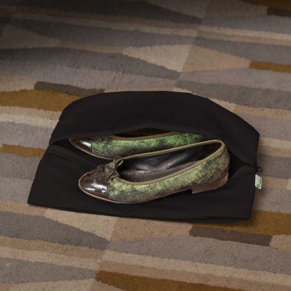 Мешок для обуви на молнии «Premium Black», черный, 40 x 25 см
