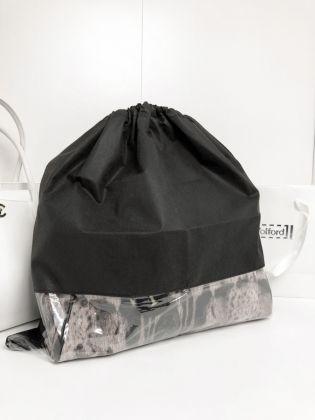 Чехол для хранения сумок с окном, черный, 50 x 50 см
