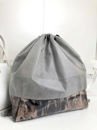 Чехол для хранения сумок с окном, серый, 50 x 50 см