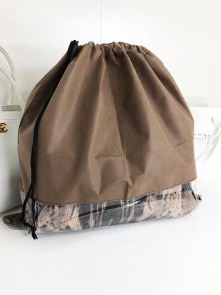 Чехол для хранения сумок с окном, коричневый, 50 x 50 см
