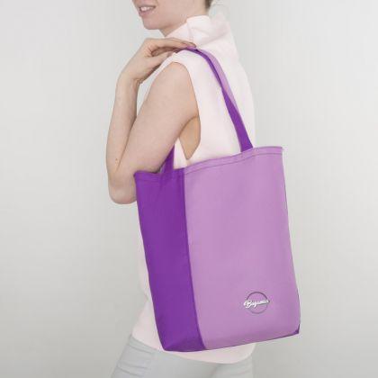 Сумка летняя, без молнии, фиолетовый лаванда, 25 x 7 x 35 см