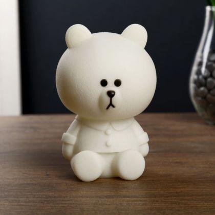 Ночник «White Bear» LED RGB батарейки, 12 х 12 х 17,5 см