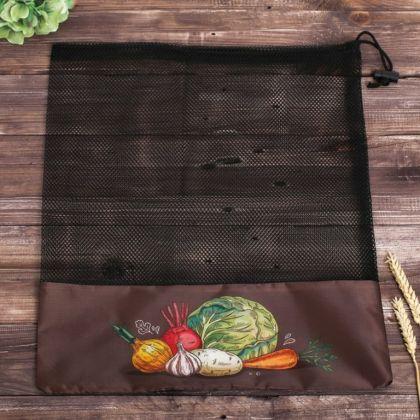 Сетка для хранения овощей «Витамины», коричневый, 40 x 1 x 50 см