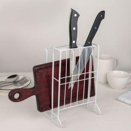 Подставка для ножей и разделочных досок, белый, 14,5 x 12 x 22,7 см