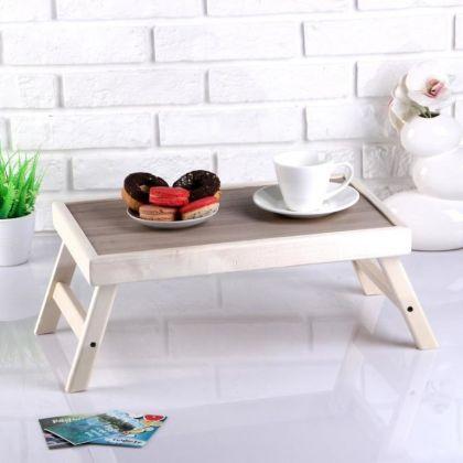 Столик для завтрака складной «Пробуждение», бежевый, 50 x 30 см