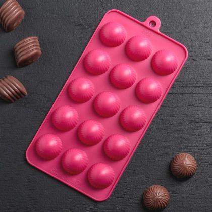 Форма для льда и шоколада «Balls», 15 ячеек, 21 x 10 x 2 см