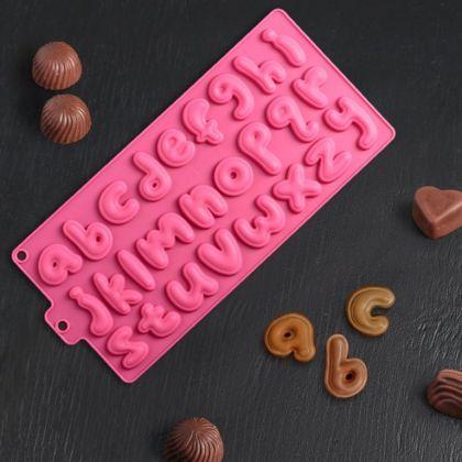 Форма для льда и шоколада «Words», 26 ячеек, 33,5 x 16,3 x 1 см