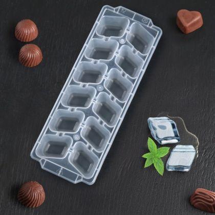 Форма для льда «Classic», 12 ячеек, 26 x 9,5 x 3,5 см