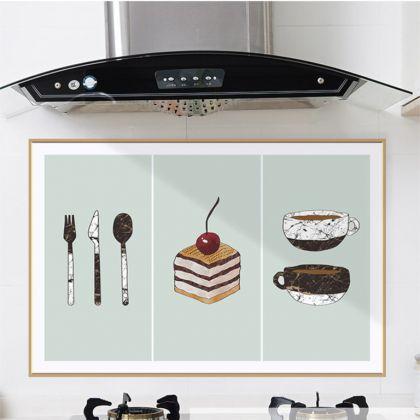 Наклейка жироотталкивающая для кухни «Пирожное», 90 x 60 см