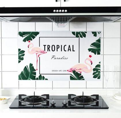 Наклейка жироотталкивающая для кухни «Фламинго», 75 x 45 см