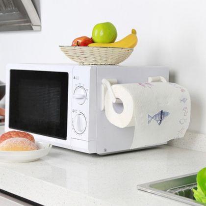 Магнитный держатель бумажных полотенец белый, 9 x 4,5 см