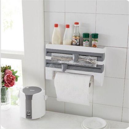 Полка-кухонный держатель 4 в 1, белый, 39 x 10 x 24 см