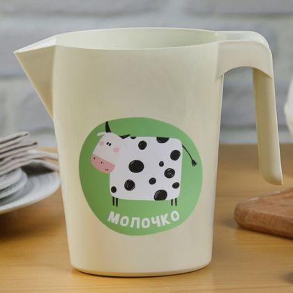Кувшин-подставка для молочного пакета «Молочко», 1 л, 17 x 9 x 19 см