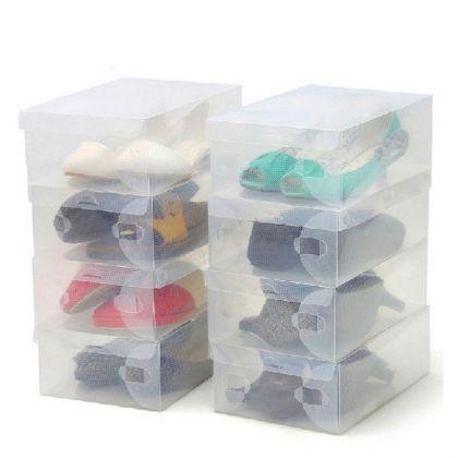 Набор из пластиковых коробок для обуви, 5 шт, 27,5 x 18,5 x 9,5 см