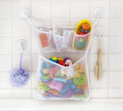Органайзер для игрушек с присосками, 4 кармана, белый, 45 x 30 см