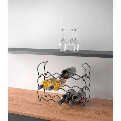 Держатель для 12 винных бутылок, 44 x 15 x 34 см